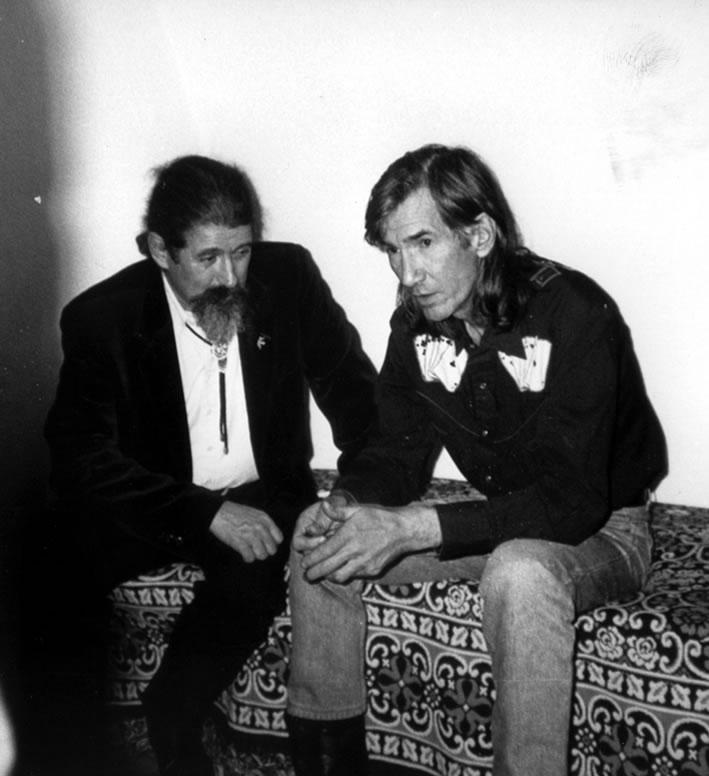 Luigi con Townes Van Zandt